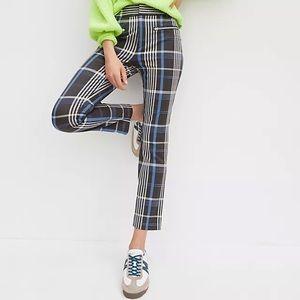 Anthropologie Essential Slim Plaid Trousers 10 NWT